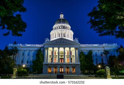 Capitiol building in Sacramento, California, United States of America