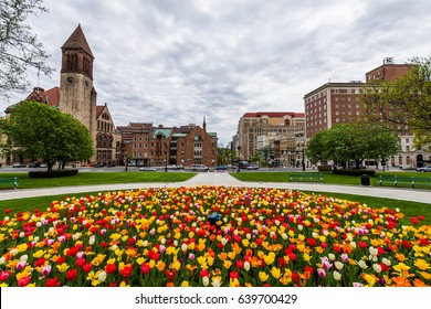 Capitol Building Area in East Capitol Park in Albany, New York
