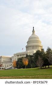 Capitol Building in Autumn, Washington DC USA