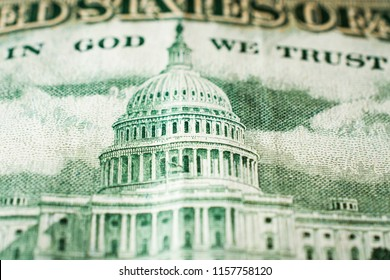 The Capitol Building as depicted on the US 50 Dollar Bill close up