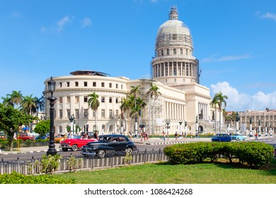 The Capitol building in downtown Havana