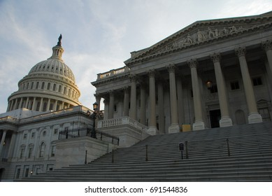 The Capitol building is a famous landmark in Washington DC