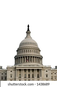 Capitol Building isolated on white