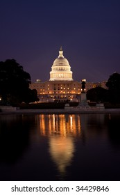 Capitol Building at night