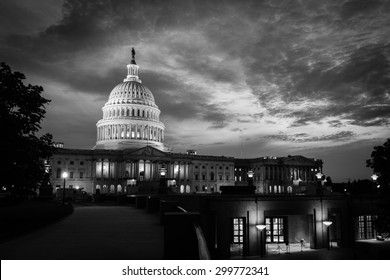 The Capitol Building at night in Washington DC - United States