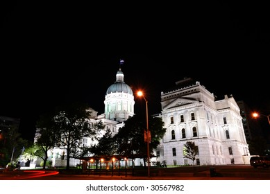 capitol building of the state of indiana