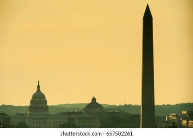 Capitol Building and Washington Monument - Washington D.C. United States