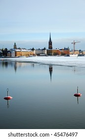 Capitol city of Sweden, Stockholm, in winter.