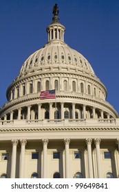 Capitol Dome, detail, Washington, DC, US Congress , USA