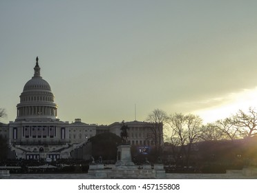 Capitol Hill at Dawn on Inauguration Day