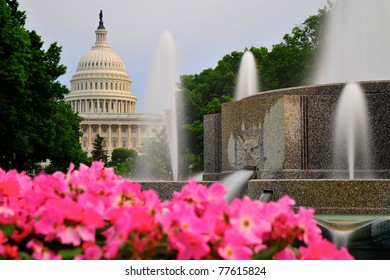 Capitol Hill and fountain