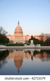 Capitol Hill at sunset, Washington DC
