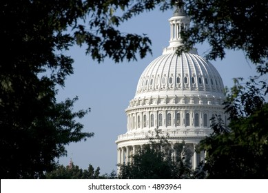"""The Capitol, located in Washington, DC, is the building in which the US Congress meets. It is at the east end of the National Mall, a site described as """"a pedestal waiting for a monument."""""""