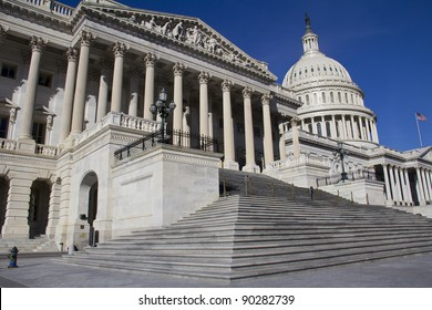 The Capitol, located in Washington, DC, is the building in which the US Congress meets. It is at the east end of the National Mall