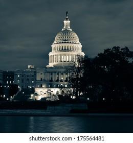 Capitol at night - Washington DC, USA