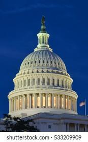 The Capitol at night - Washington DC USA