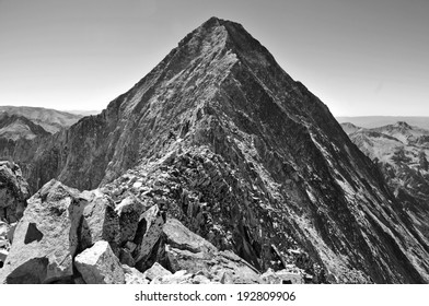 """Capitol Peak and its """"Knife Edge"""", one of the most difficult Colorado Fourteeners"""