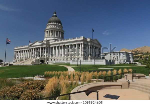 capitol of salt lake city, utah on a bright sunny day