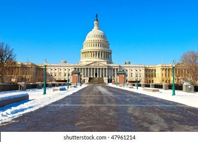 Capitol in snow