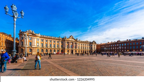 Capitol Square in Toulouse in Occitania, France