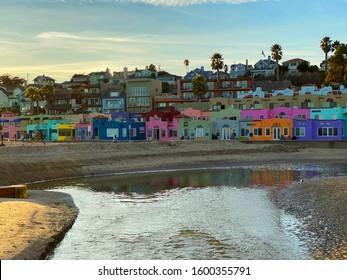 Capitola Beach Scenes at Sunset