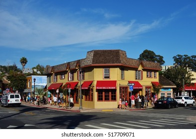 CAPITOLA, CA -3 SEP 2016- The city of Capitola by the Sea is a beach town located in Santa Cruz county on the coast of Monterey Bay in California.