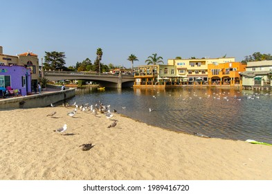 Capitola, CA, USA - September 20, 2020: Beautiful view of Capitola beach.