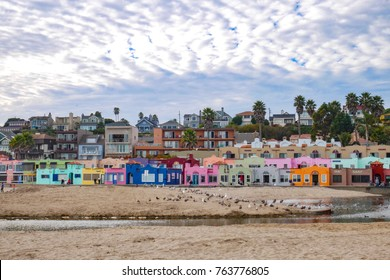 Capitola city beach one of the top ten beaches on west coast, Santa Cruz California USA.