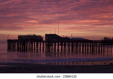 Capitola Pier sunset Capitola, California, USA
