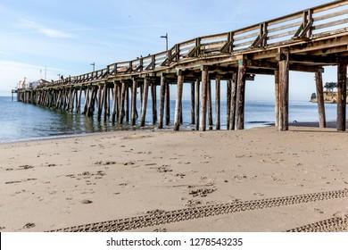 Capitola wharf on the beach at Capitola Village by the Sea. Capitola Village is one of the oldest vacation retreats on Pacific Coast.