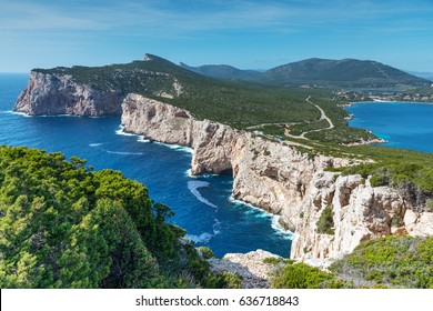 Capo Caccia coastline in Sardinia, Italy