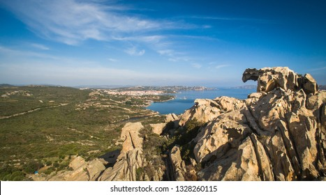Capo D'orso Palau Sardinia Italy. View of the Bear rock. East of the port of Palau. Costa Smeralda Sardinia Italy