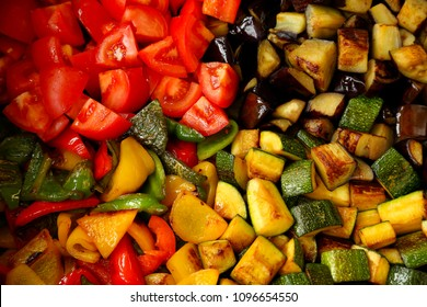 Caponata - Bright assorted roasted vegetables