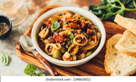 Caponata with olives