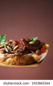 Caponata is a Sicilian eggplant dish