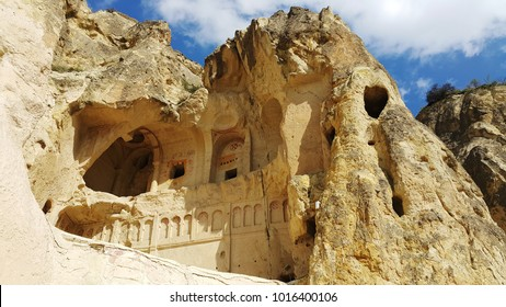 Cappadocia. Fairy chimneys and caves in Cappadocia, Turkey. Kapadokya