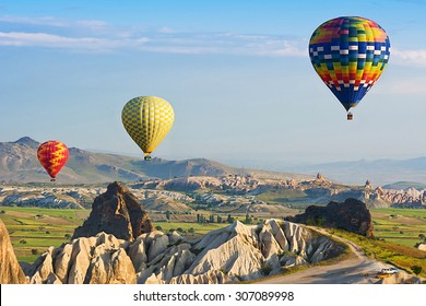Cappadocia. The great tourist attraction is the Cappadocia balloon flight. Cappadocia is known around the world as one of the best places to fly with hot air balloons. Goreme, Anatolia, Turkey