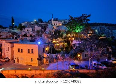 CAPPADOCIA, NEVSEHIR, TURKEY - October 24, 2009. View of Gamirasu cave hotel in picturesque Ayvali village.
