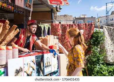 Cappadocia, Turkey, May 2019 : Vacation in Turkey view of Underground city during summer