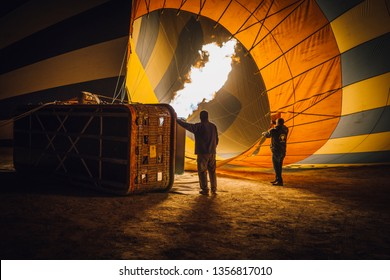 CAPPADOCIA, TURKEY - NOVEMBER 15, 2017 : Cappadocia is known around the world as one of the best places to fly with hot air balloons. Goreme, Cappadocia, Turkey