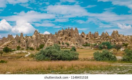 Cappadocia Turkey rock formations ,open air museum valley of goreme Kapadokya