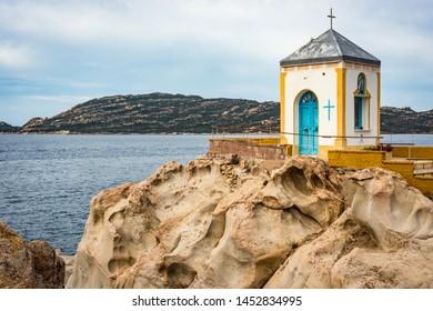 Cappella della Madonnetta in Maddalena Island, Sardinia, Italy.