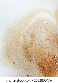 Cappuccino or cofee foam detail