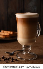 Cappuccino Coffee with cream and chocolate chips
