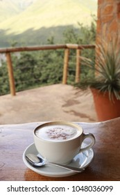Cappuccino cup in Lesotho.