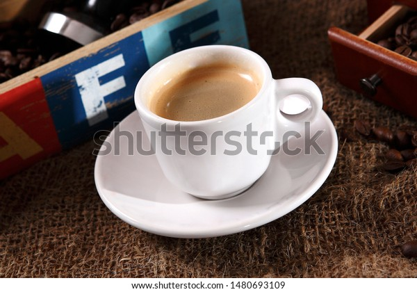 Cappuccino Espresso Based Coffee Drink That Stock Photo