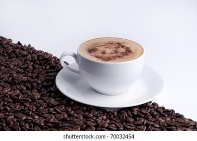 cappuccino with grain