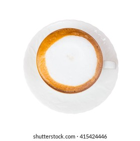 Cappuccino isolate on white background