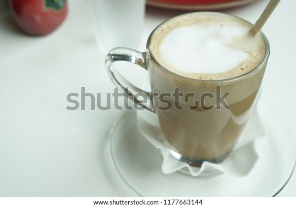 Cappuccino Italian Cappuccino One Coffee Drinks Stock Photo