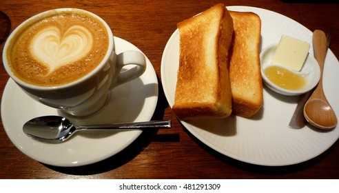 cappuccino and toast
